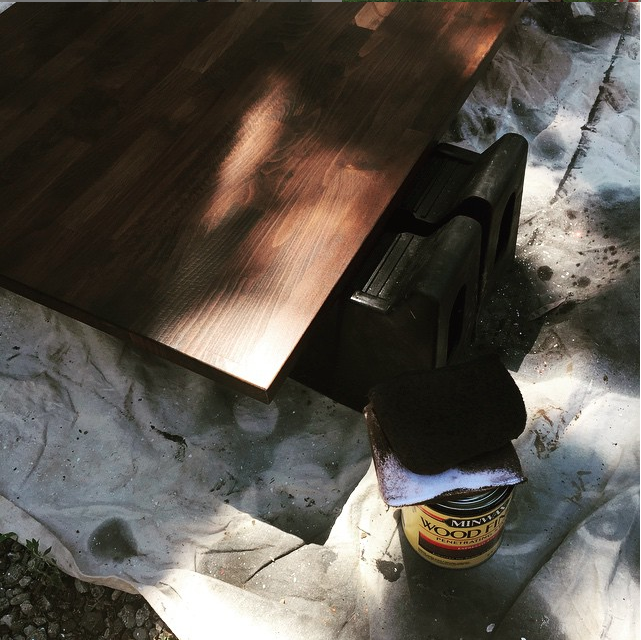 Butcher Block Countertops, Part I | Minwax Wood Finish Expresso, Then Tung  Oil