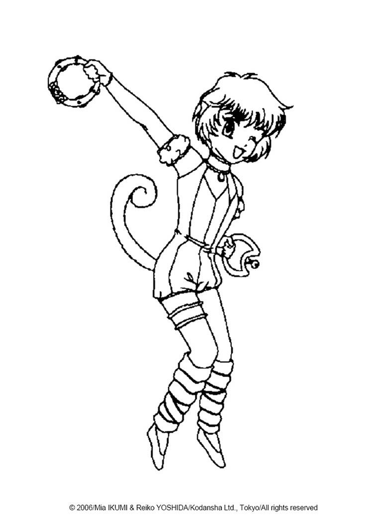 Pudding Fong From Tokyo Mew Mew Coloring Sheet More Manga