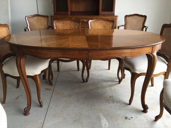 Vintage Kindel Dining Room Set Table And 8 By Vinegarhillfurniture