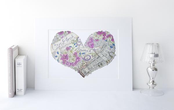 Happy wedding anniversary card years stock vector