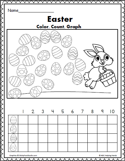 Easter Egg Color Count And Graph Math | Spring | Pinterest | Pascua ...