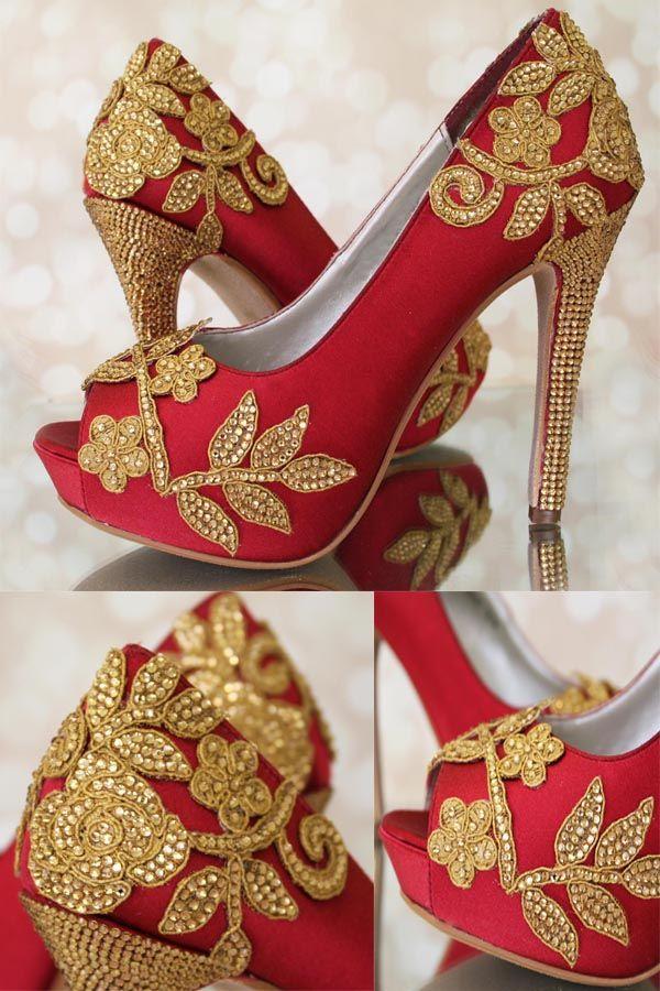 Indian Wedding Shoes Indian Wedding Shoes Bridal Sandals Heels Red Wedding Shoes