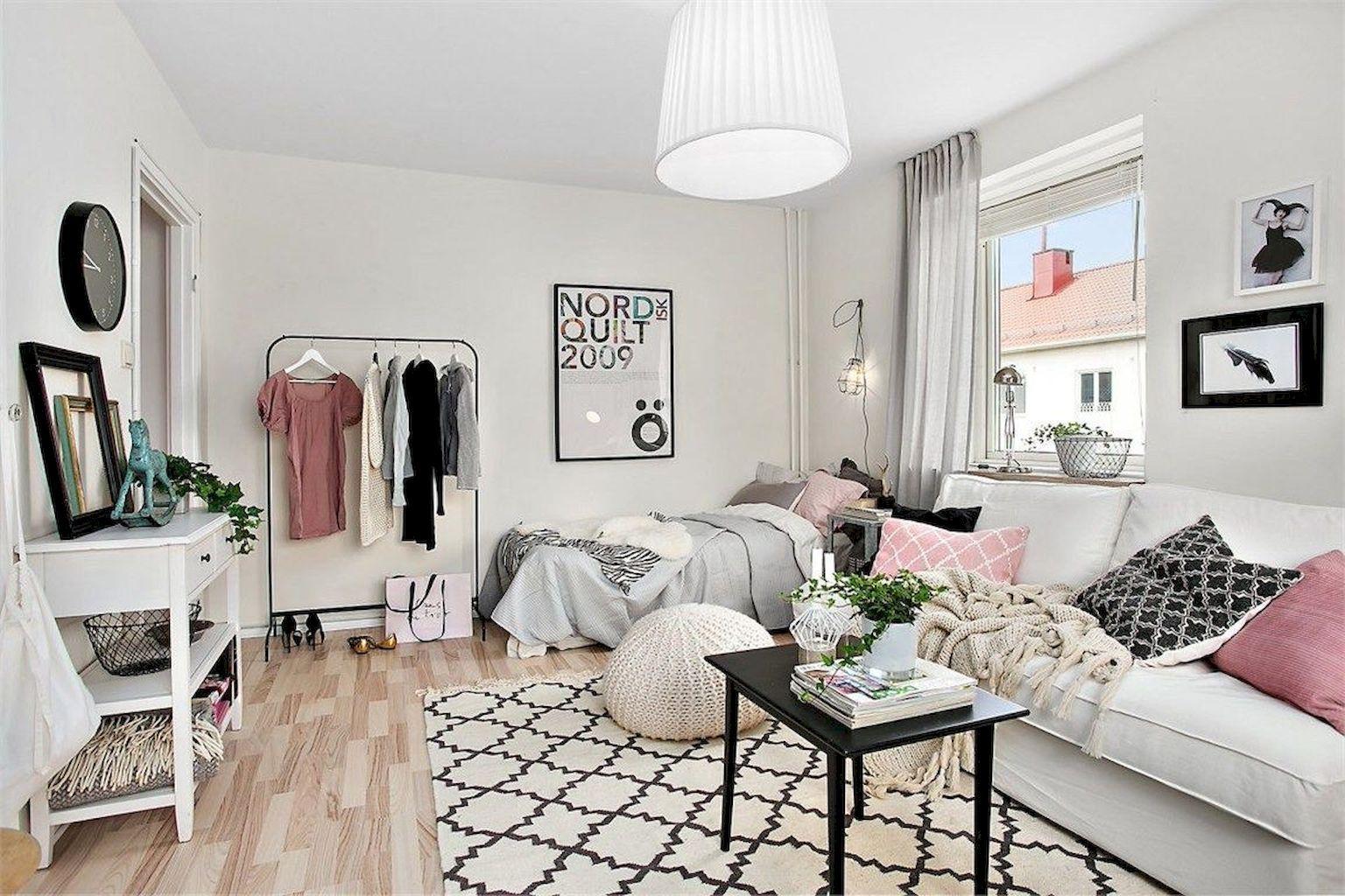 65 best studio apartment decorating ideas wohnung pinterest schlafzimmer einzimmerwohnung - Minimalistische einrichtungsideen ...
