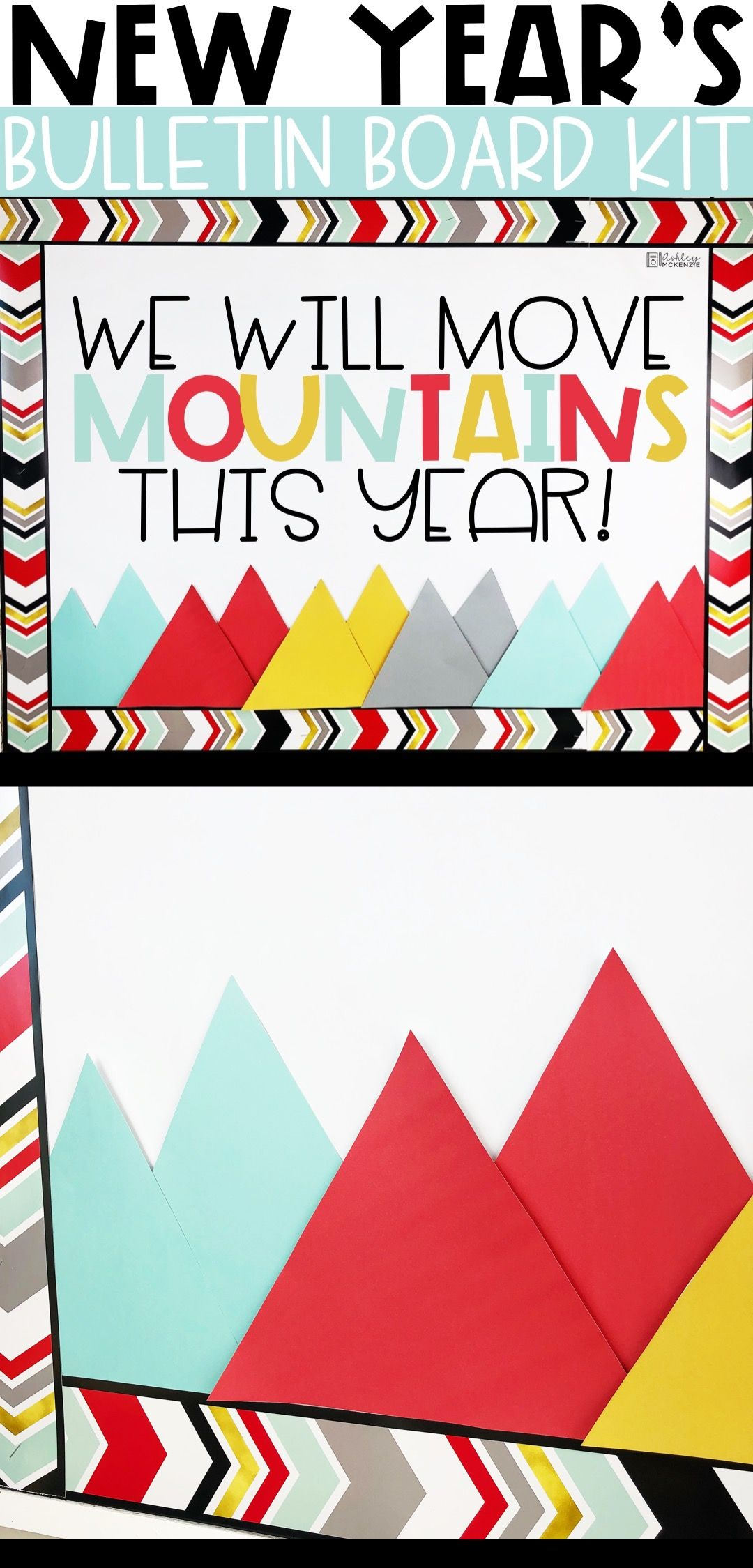 New Years 2020 Bulletin Board or Door Kit - Mountains ...