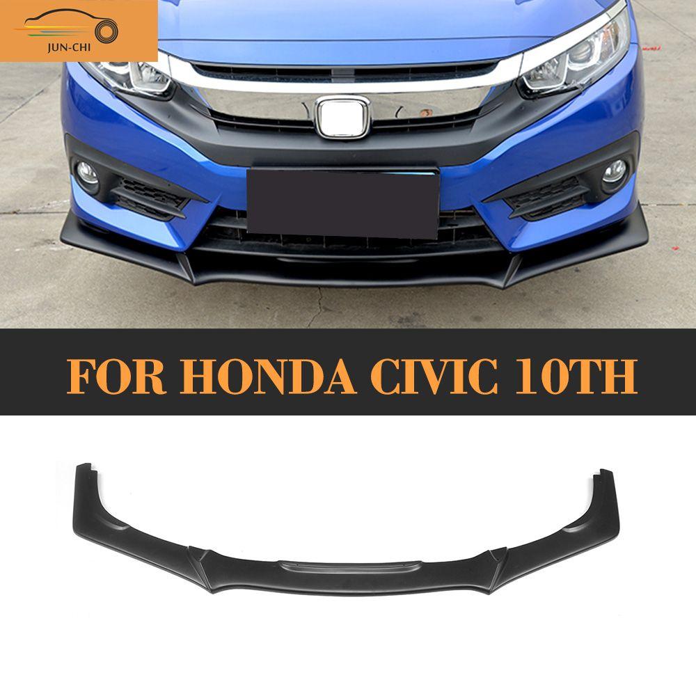 Matt Black Front Lip Spoiler For Honda Civic 10th 2016 2017 Type R Style Dx Ex Ex L Lx Touring Turbo Pu Honda Civic Honda Civic