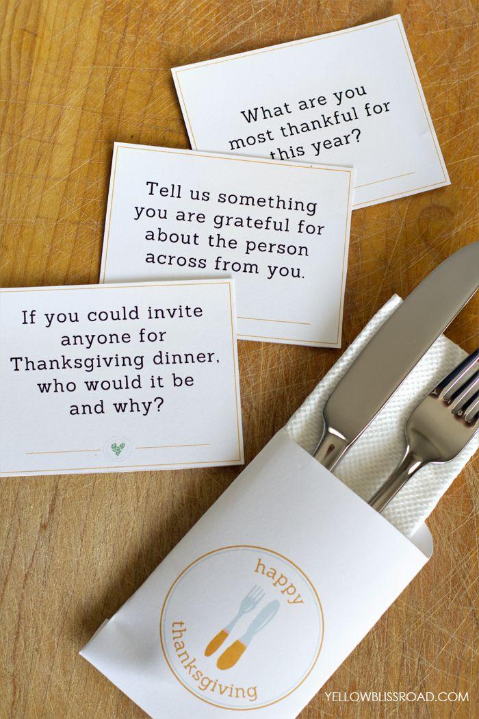 Thanksgiving Table Printable Set Thanksgiving Tables