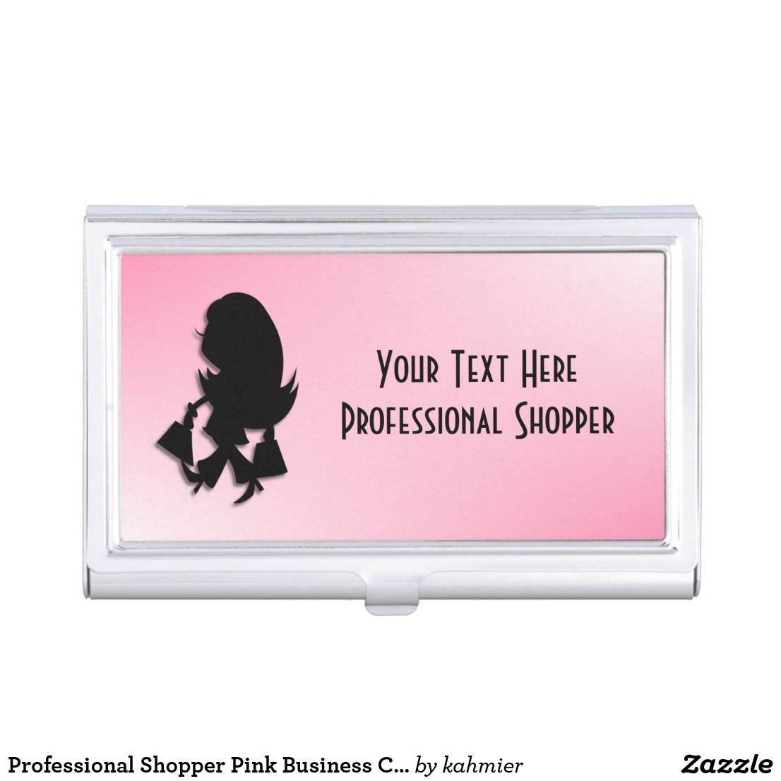 Professional Shopper Pink Business Card Case | Business card case ...