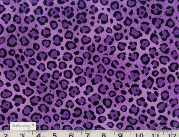 Purple And Black Cheetah Leopard Print Fabric New 100 Cotton Quilting Sewing Bold Animal