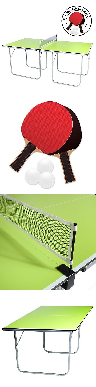 Sets 158955: Midsize Ping Pong Table, 40 X 70 Inches, Includes Net,