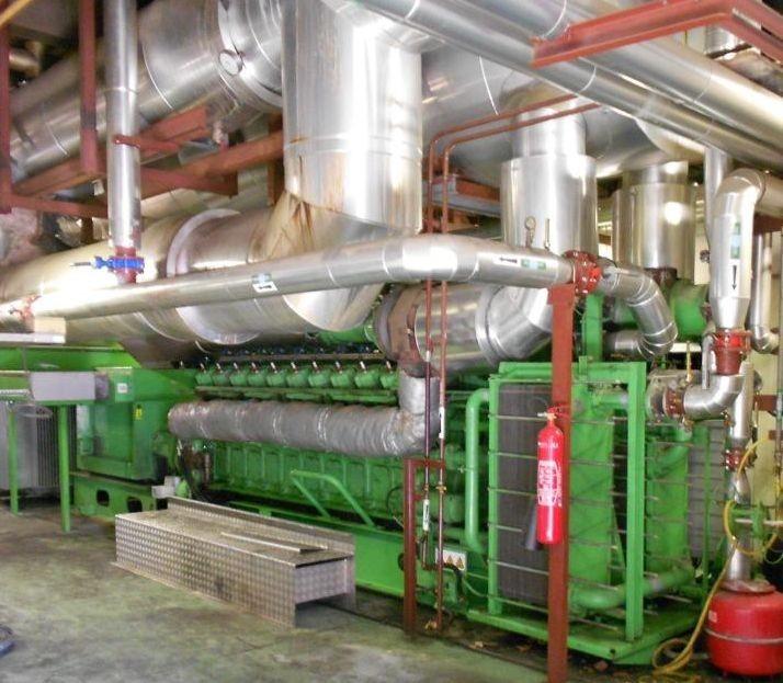 Dieser Gasmotor sieht komplex aus. Mein Freund hat einen
