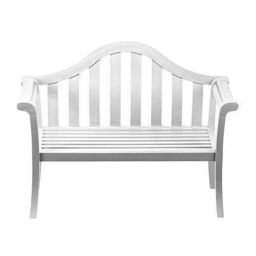 Camelback White Bench Achla Designs Benches Outdoor Benches Outdoor U0026 Patio  Furniture