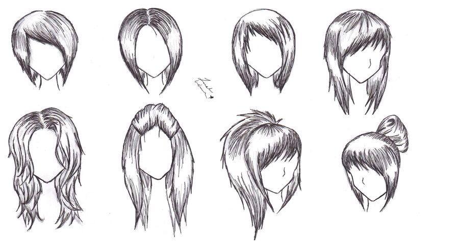 Up Due Bangs Bobs Anime Hair Type Girl Anime Hair Hair Sketch How To Draw Hair