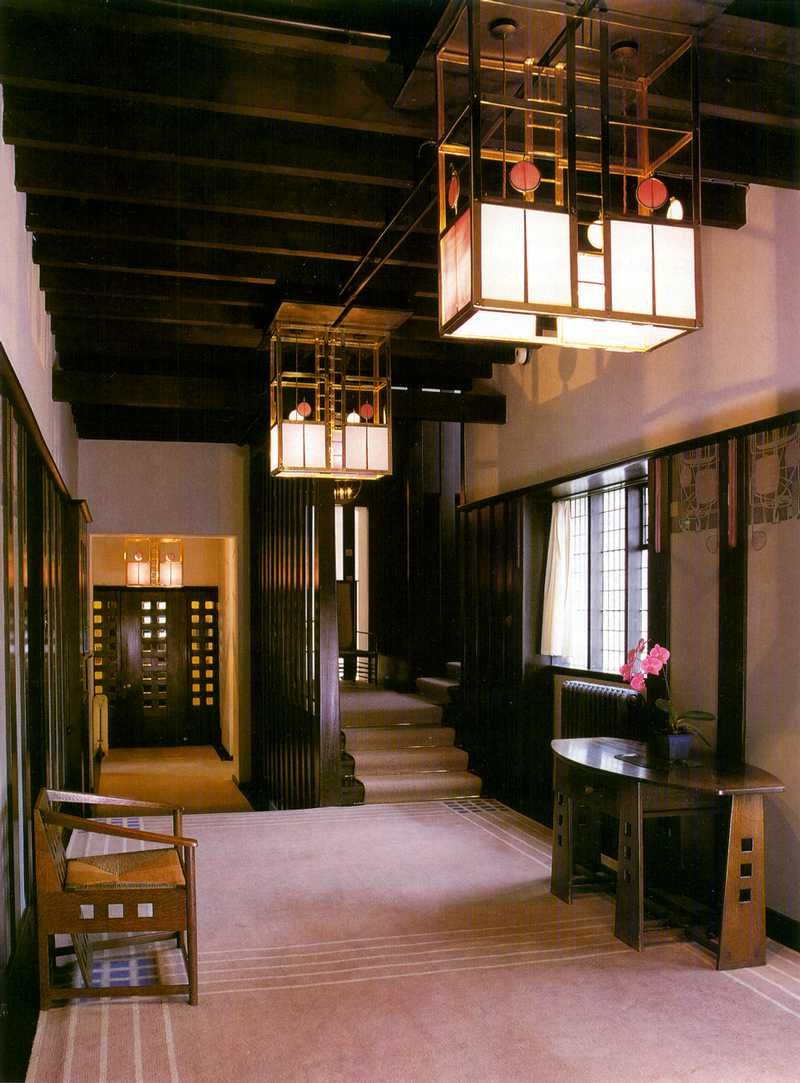 Charles Rennie Mackintosh, The Hill House - interior hall, unknown media, c.1903.
