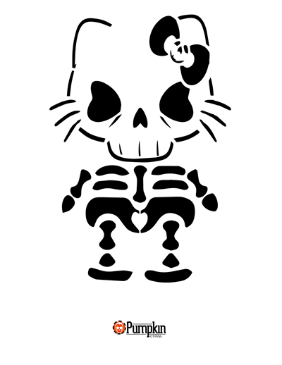Hello Kitty Pumpkin Pattern