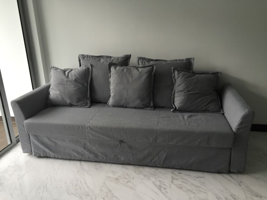 ikea holmsund 3 seater sofa bed sofa bed pinterest living