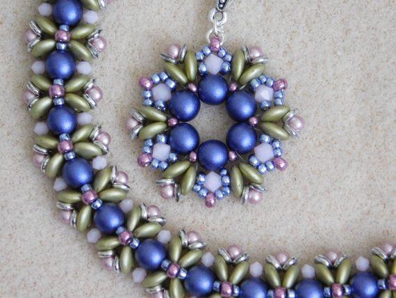 Beaded Pendant, Tutorial, Pattern, Instruction, Fairy Ring ...
