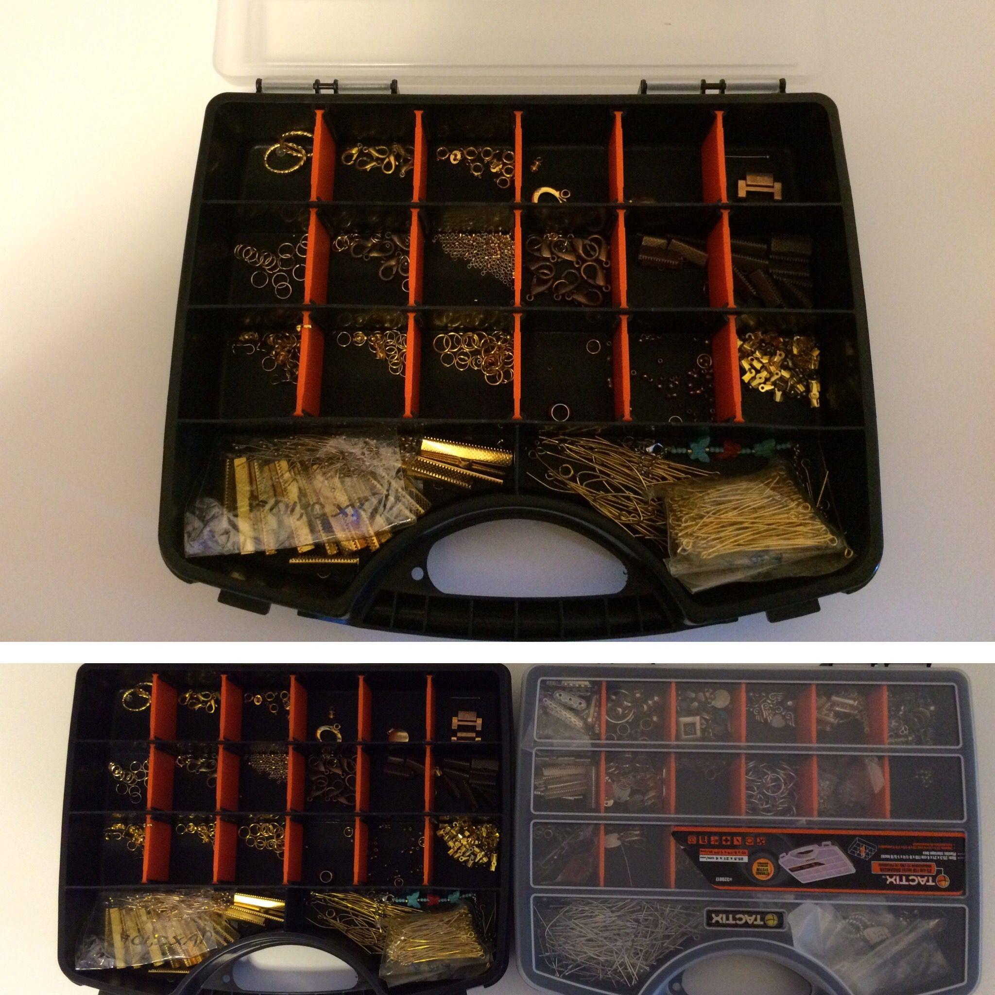 Caja de herramientas para guardas artículos de bisuteria by sophis