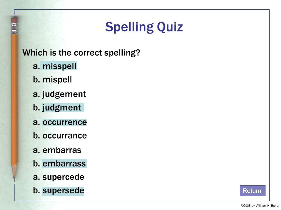 Image Result For Correct Spelling Quizzes With Images