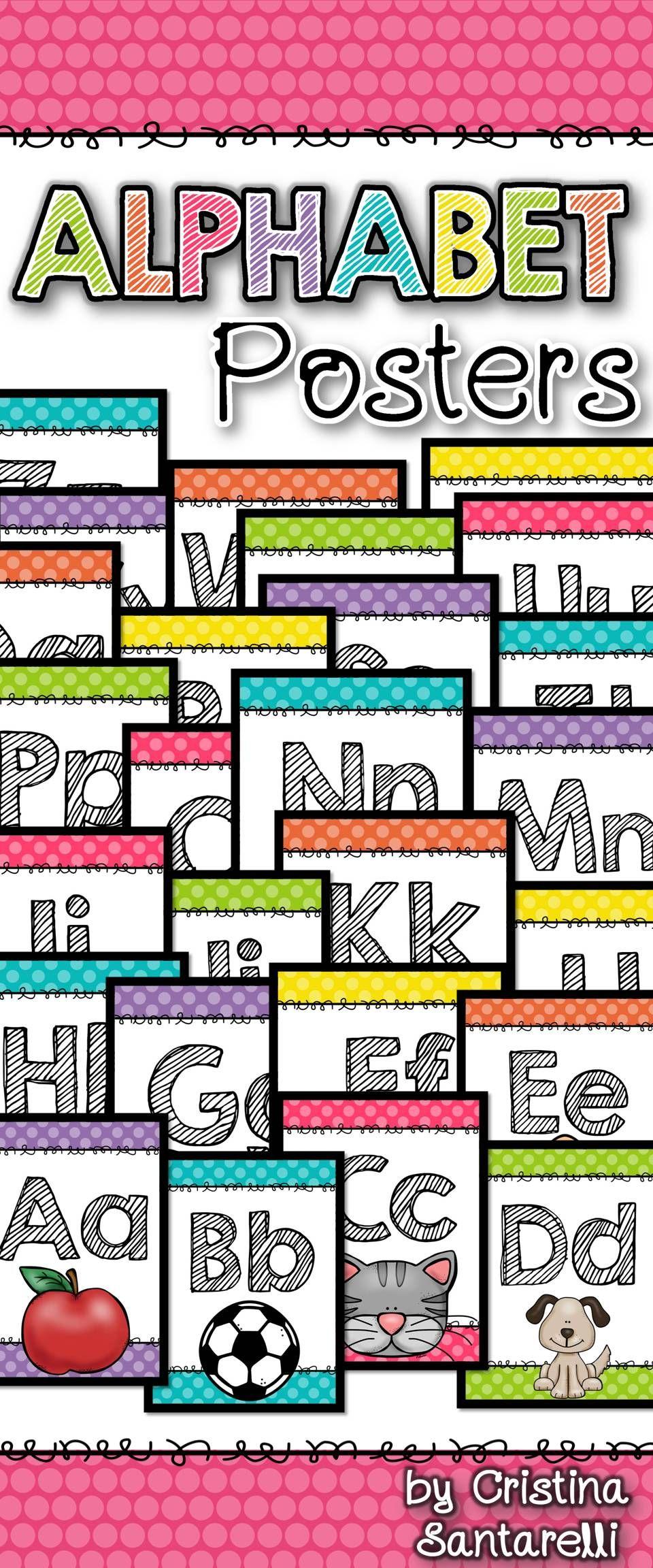 Alphabet Posters Tpt Free Lessons Pinterest Classroom
