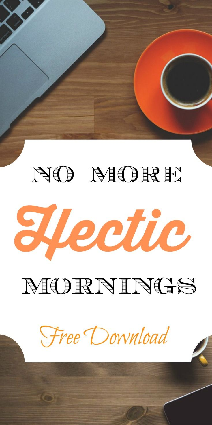 Sick and tired of crazy mornings? Yeah, me too. That's why I created a morning routine with a free download so you can create one too. Increase your productivity, get more done, and feel less stressed with a morning routine. Click through to read more or pin now and read later.