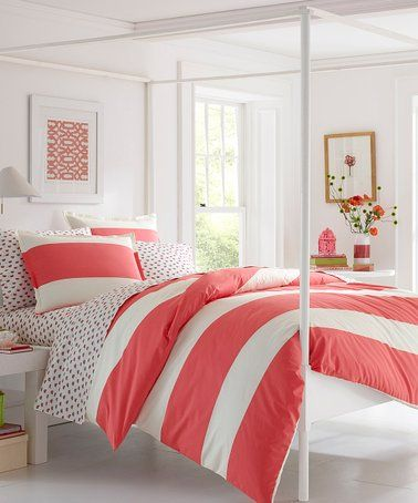 Best Loving This Coral Pink Sloane Cotton Comforter Set On 400 x 300