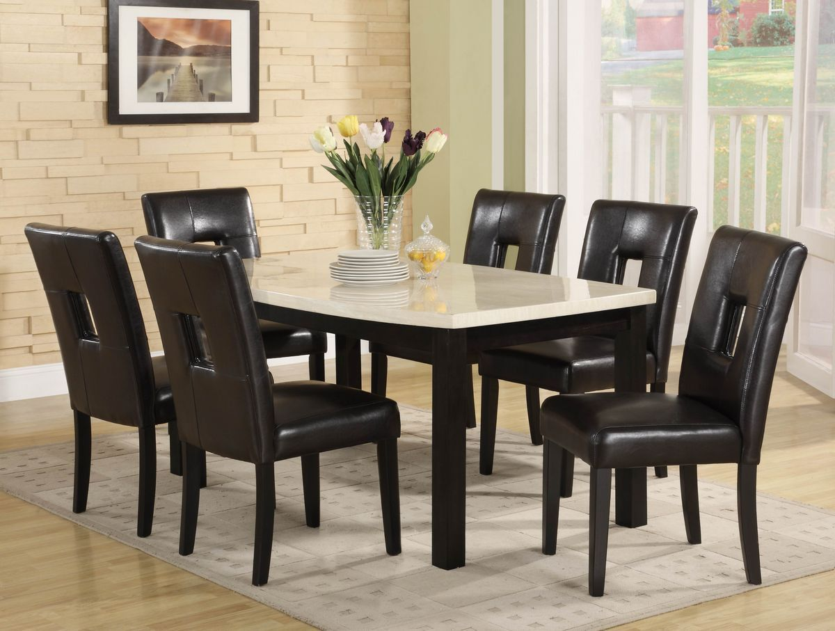 Archstone Collection Dining Table Faux Marble Top 3270-60