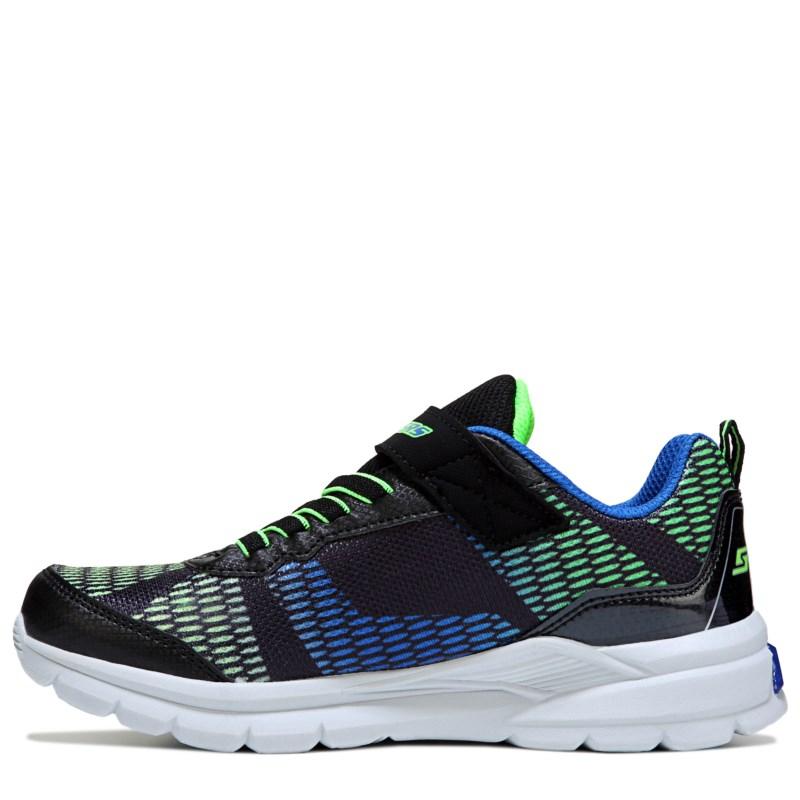 720a64b70b3502 Skechers Kids  Erupters II Lava Waves Wide Sneaker Preschool Shoes (Black  Blue Lime)