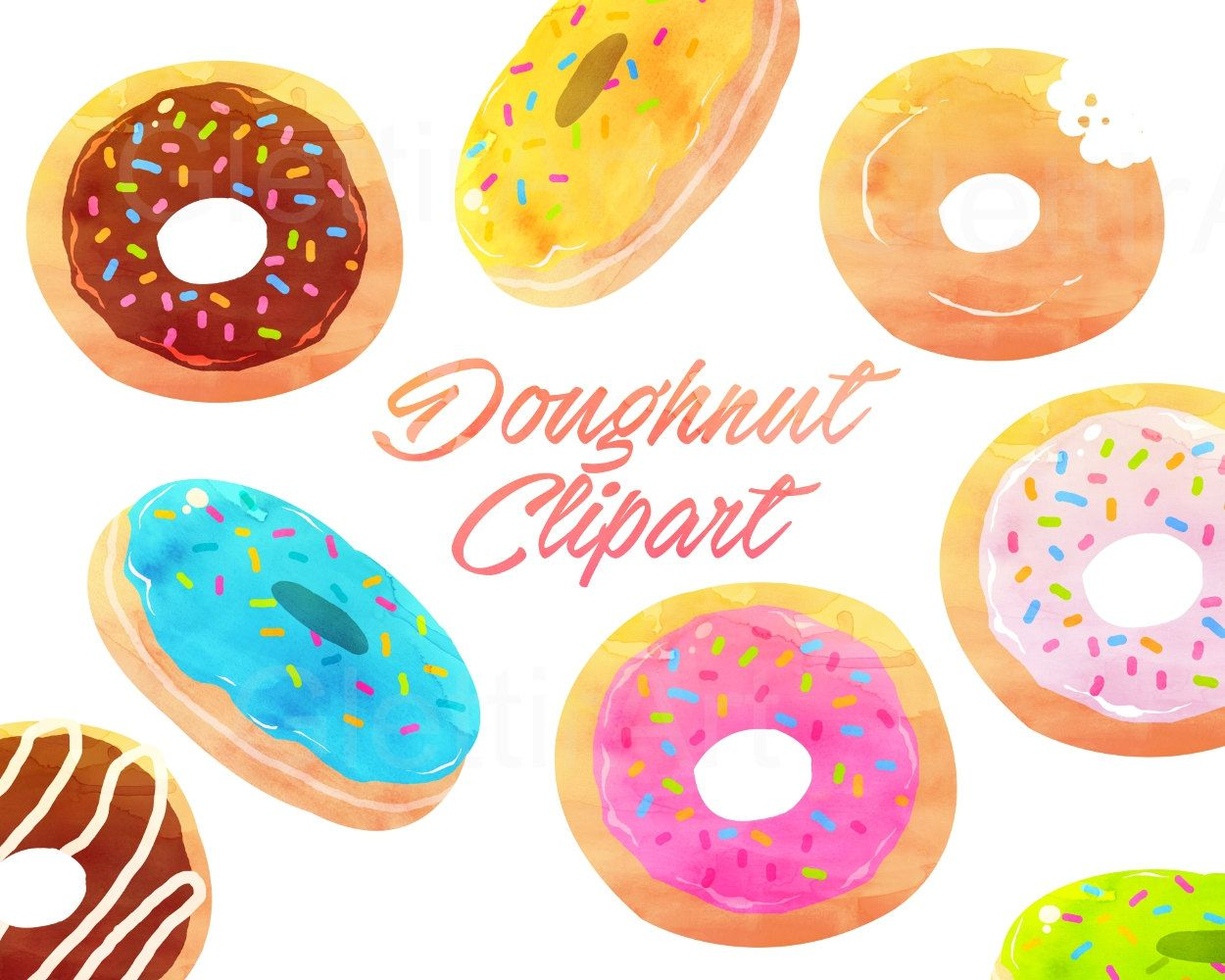 medium resolution of donut clipart doughnut clipart dessert clipart for personal and commercial use instant download scrapbooking planner stickers by glettirart on etsy