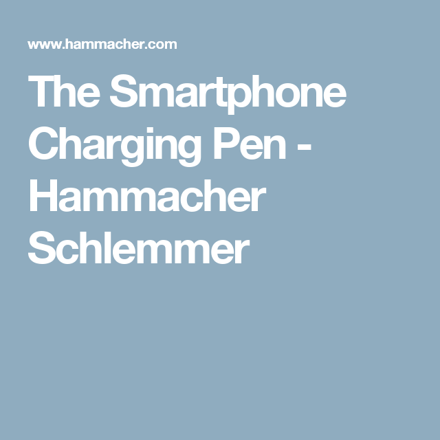 The Smartphone Charging Pen - Hammacher Schlemmer