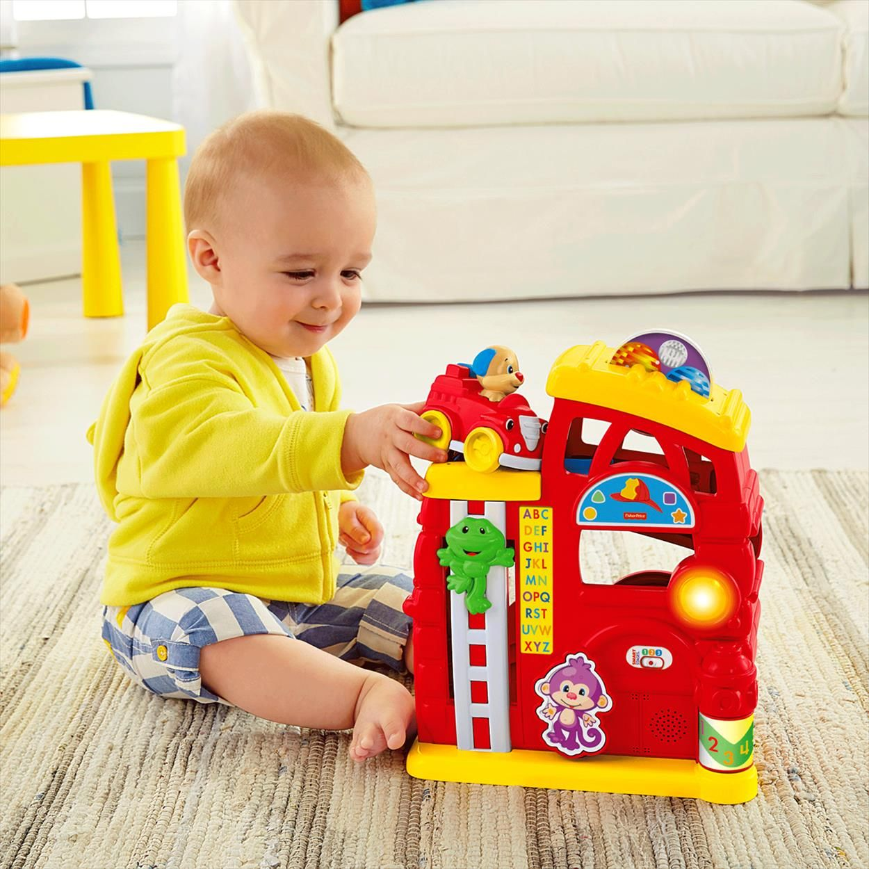 Laugh & Learn® Monkey's Smart Stages™ Firehouse | Toys for ...