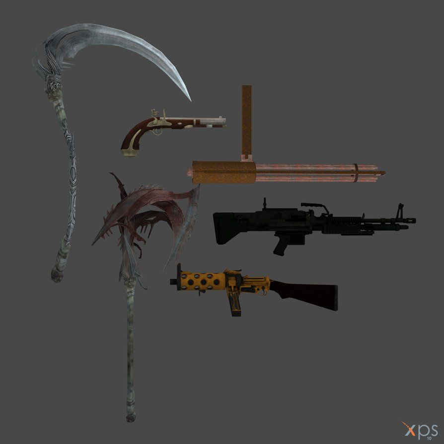 XNALARA XPS Model Release!!! Random Weapons by Merytaten