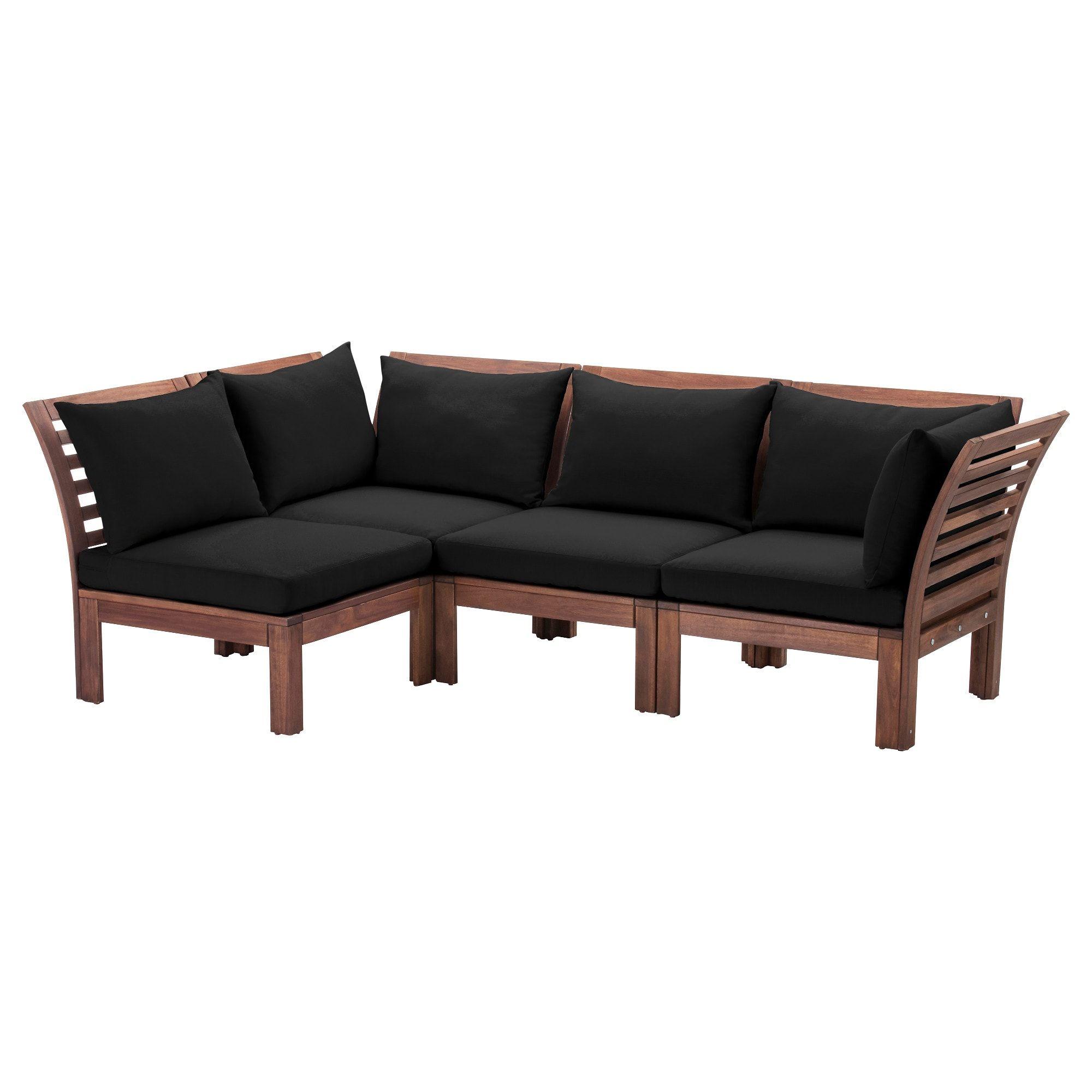 ÄPPLARÖ Modular corner sofa 3seat, outdoor brown