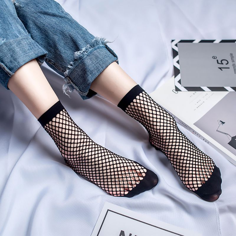 9db1296b0 1 Pair WomenMesh Fish Net Short Socks Ruffle Fishnet Ankle High Sock Lady  Lace  Affiliate