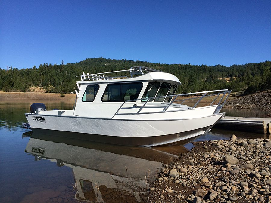 Newly Minted 22 Foot Explorer Aluminum Fishing Boats Cuddy