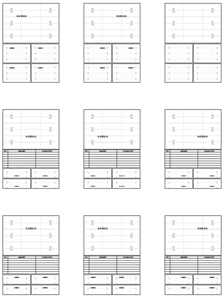 Blank Football Field Template 3 Templates Example Templates Example Football Field Templates Football