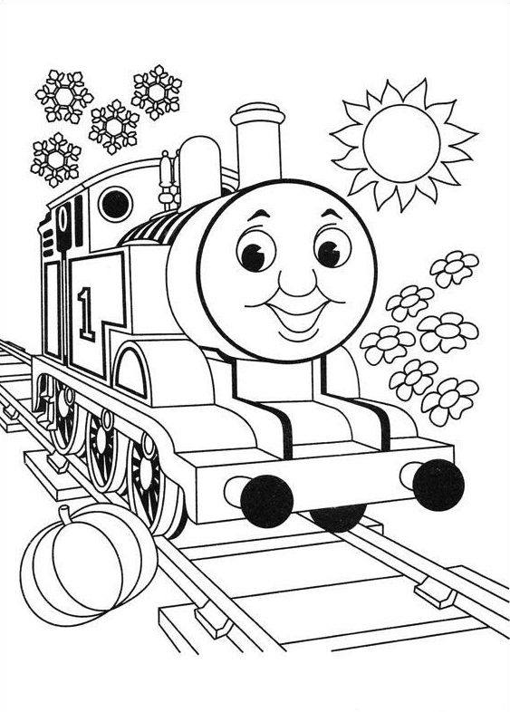 Top 20 free printable thomas the train coloring pages for Thomas the train color page