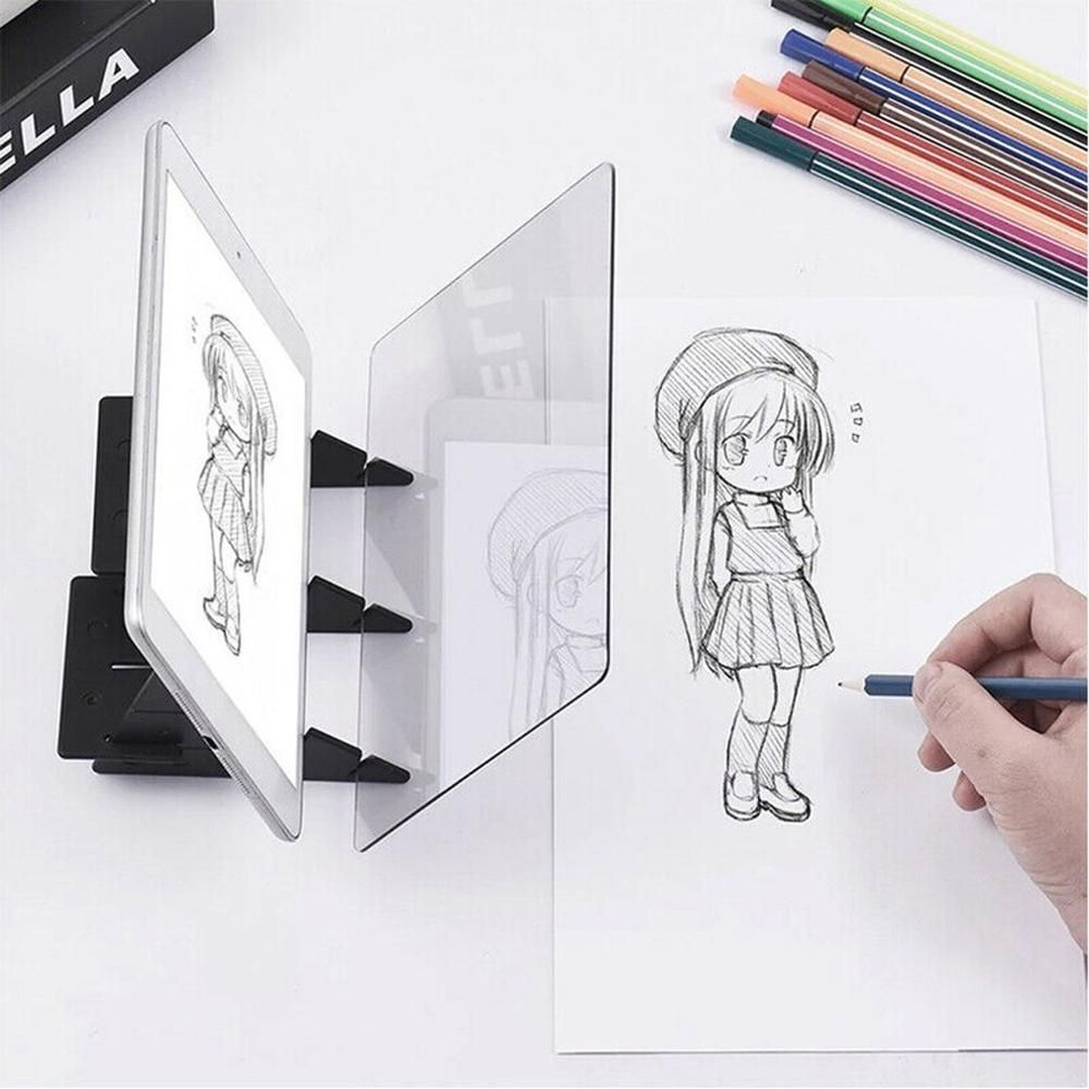 Drawing Painting Sketch Optical Mirror Reflection Projection Tracing Plate Board