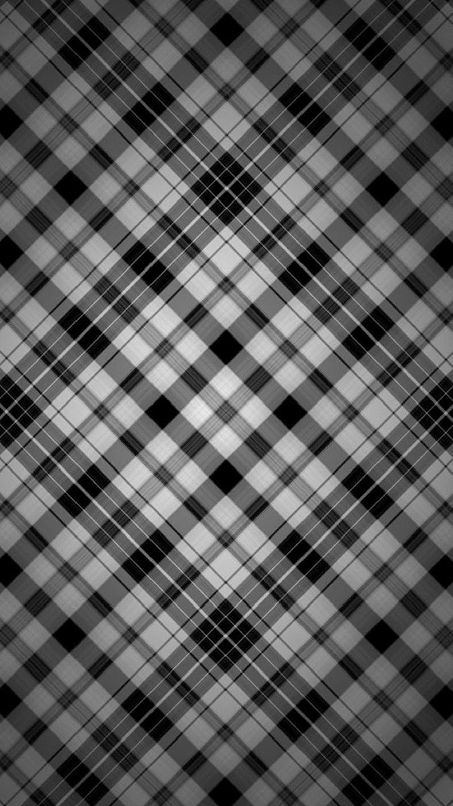 Samsung Galaxy S5 Wallpaper Pattern Black Plaid