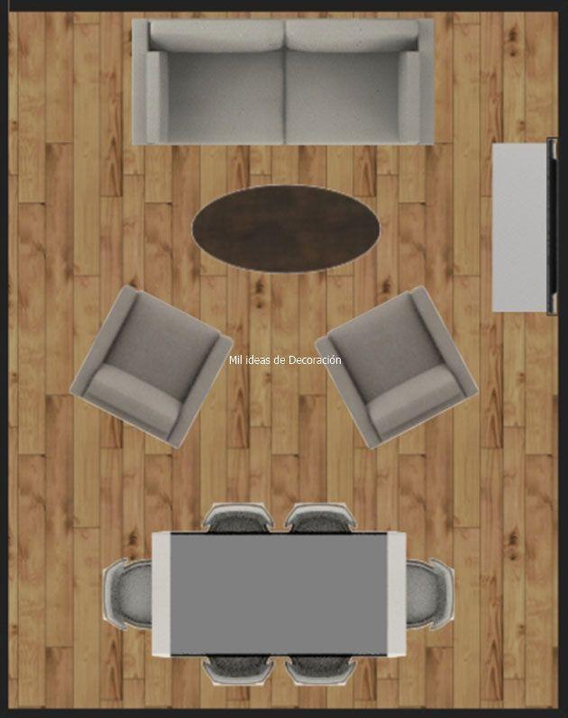 20 formas de distribuir un salón comedor rectangular | Mil Ideas de ...