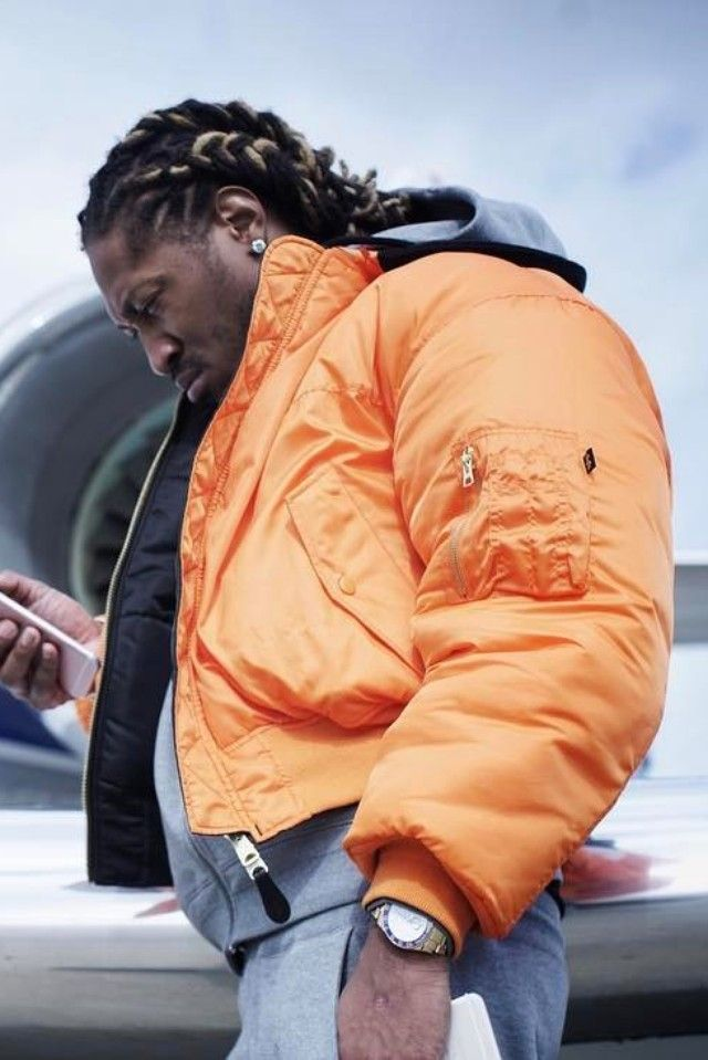 0677c420baf091 Future Hendrix wearing Vetements Alpha Industries X Oversized Reversible  Bomber