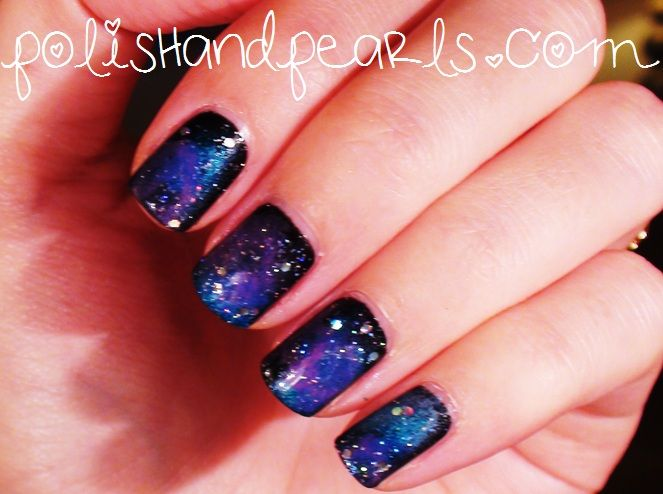 Great Tutorials For Galaxy Nails Def Gonna Do This