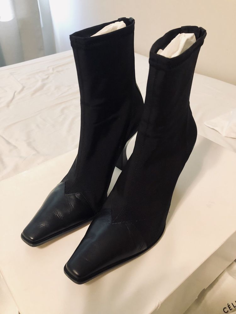6bad88b0e69 CELINE Phoebe Philo 18SS MADAME ANKLE BOOTS(sz 37 Black)  fashion  clothing   shoes  accessories  womensshoes  boots (ebay link)