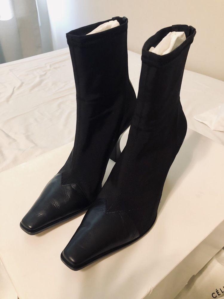 ec68936e57 CELINE Phoebe Philo 18SS MADAME ANKLE BOOTS(sz 37/Black) #fashion #clothing  #shoes #accessories #womensshoes #boots (ebay link)