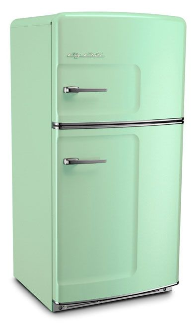 retro fridge in mint green... from 40s probably