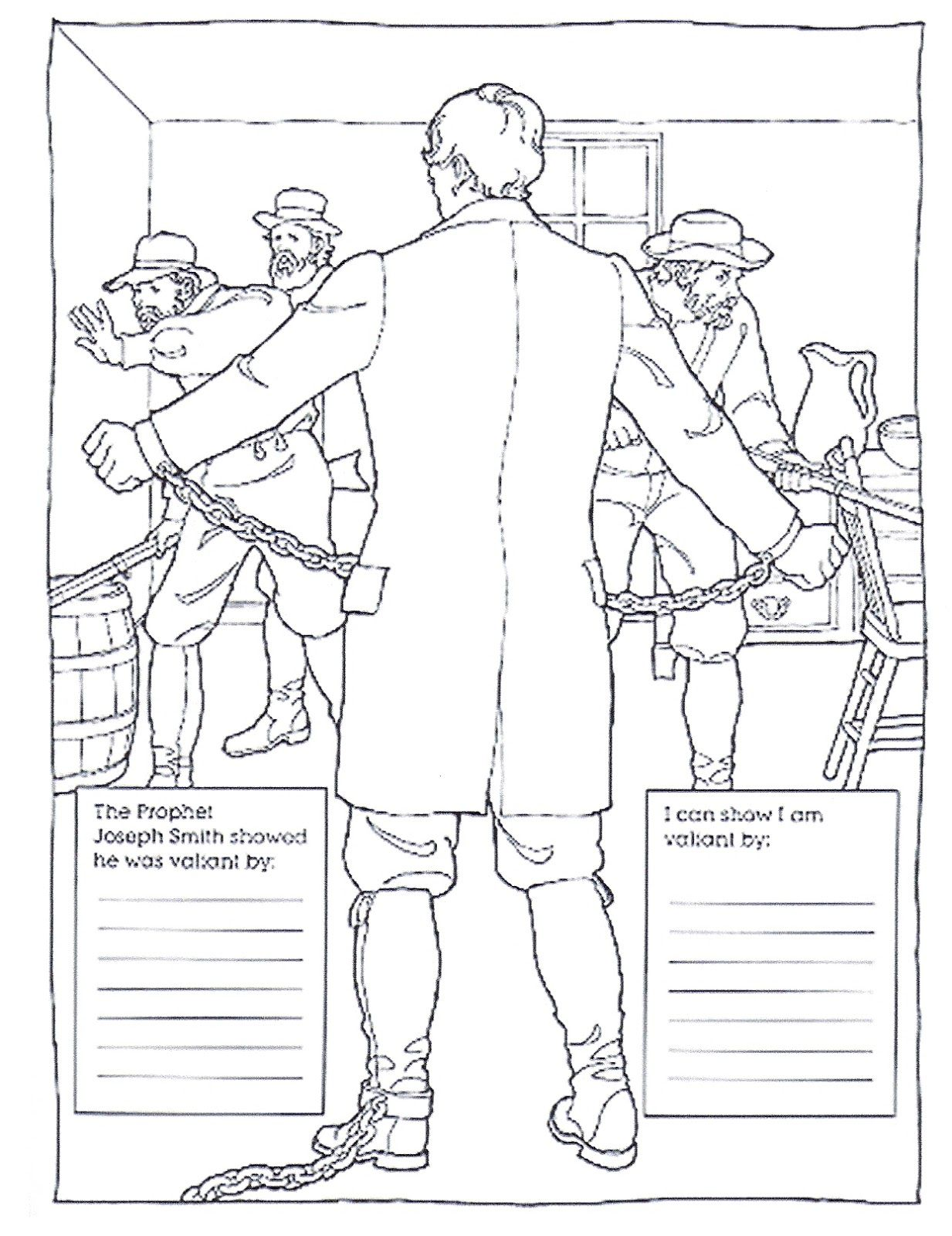 Primary 5 Manual Lesson 32 Joseph Smith is Jailed Unjustly Journal ...