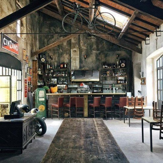 Car Garage Loft Retro Style: It's A Man's World In 2019