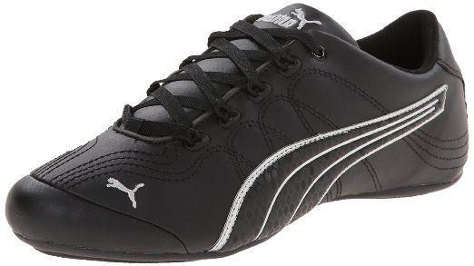 PUMA Womens Soleil V2 Comfort Fun Classic Sneaker, Black/Puma Silver, 5.5 B
