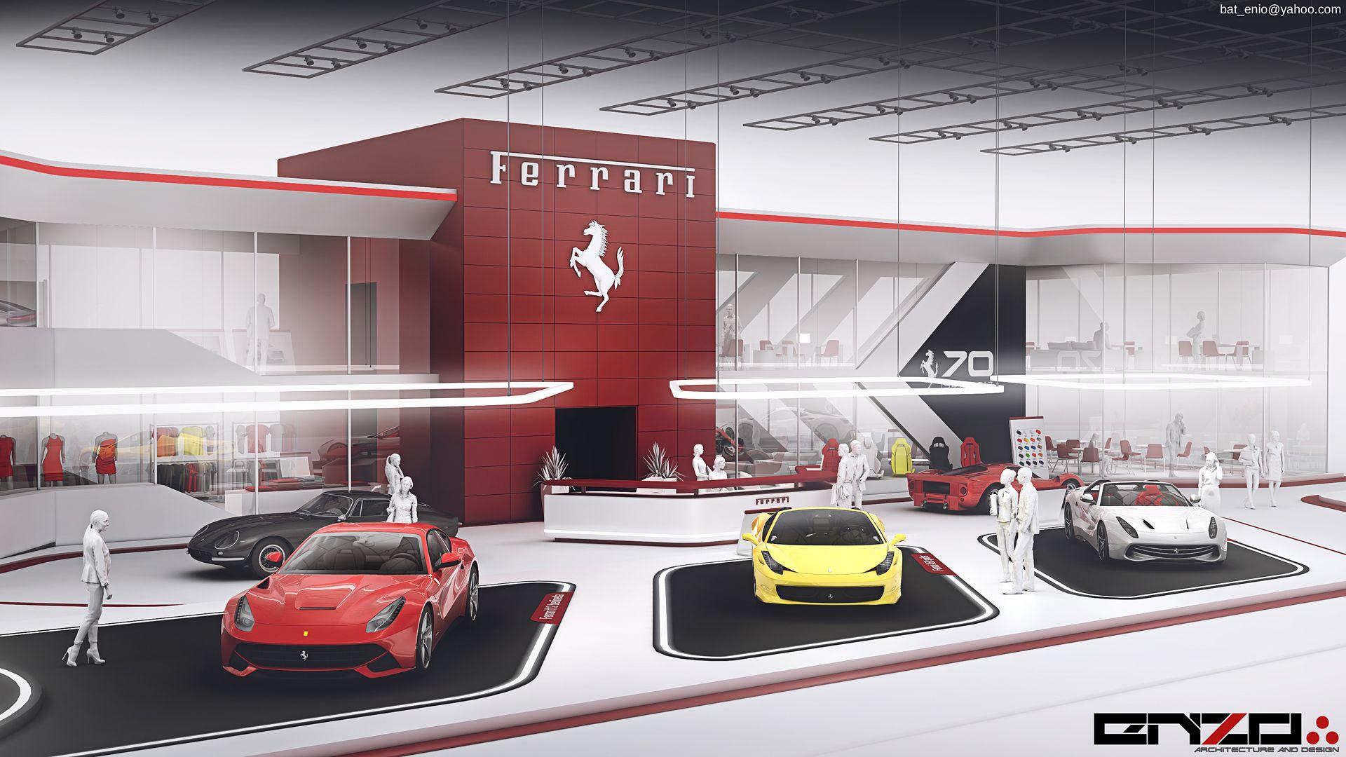 Ferrari Expo Stand Concept 2017 On Behance Expo Stand Ferrari