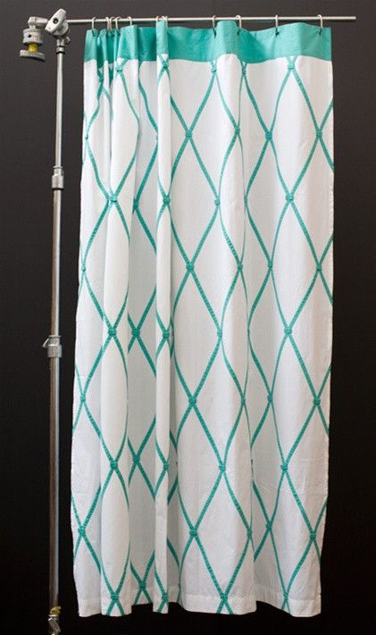This Ginny Shower Curtain Design By Indian Rose Is 1oo Preppy