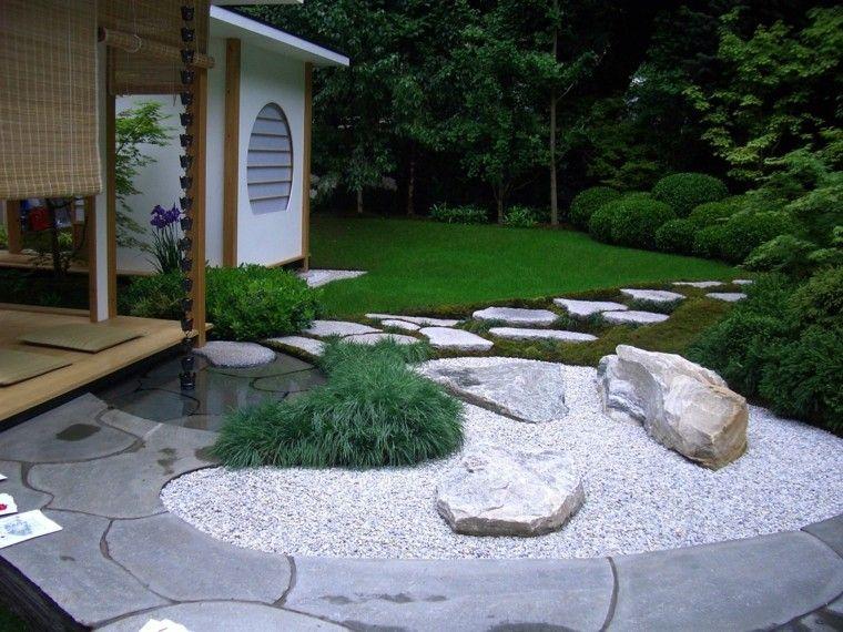 diseño de jardines con grava y rocas | piedras jardin | pinterest